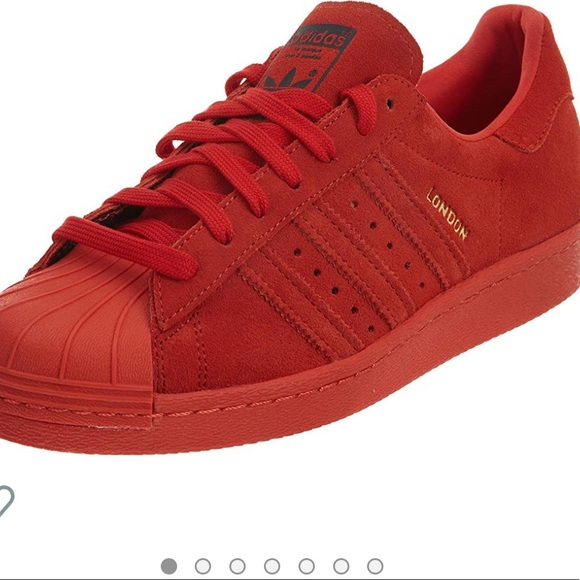 adidas superstar 80s red